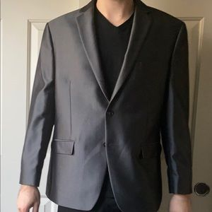 Calvin Klein Suit Jacket Gray 42S